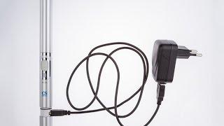 Обзор демонстрация  звуковая зубная щетка на  NiMH аккумуляторах  CS Medica SonicPulsar CS 131