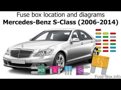 Fuse box location and diagrams Mercedes-Benz S-Class (2006-2014