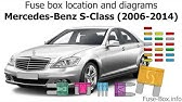 Fuse Box Location And Diagrams Mercedes Benz S Class Cl Class 1999 2006 Youtube