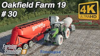 Spreading manure & slurry, animals care, cultivating | Oakfield Farm 19 | FS19 TimeLapse #30 | 4K