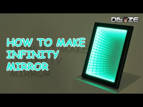 How to make Infinity mirror | LED ILLUSION MIRROR