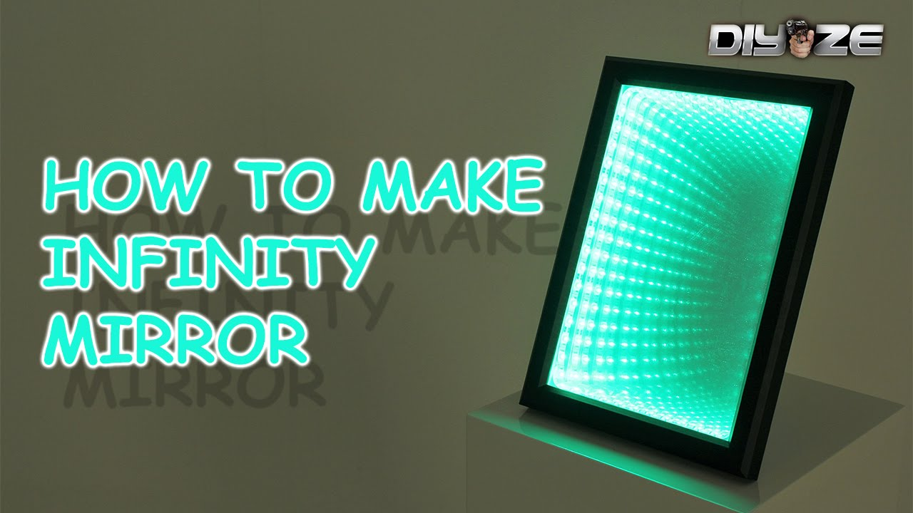How to make Infinity mirror  LED ILLUSION MIRROR  YouTube