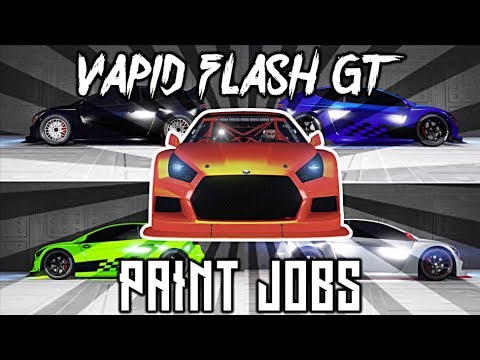 GTA 5 - VAPID FLASH GT TOP 5 PAINT JOBS! WHICH 1 SHALL I CHOOSE?