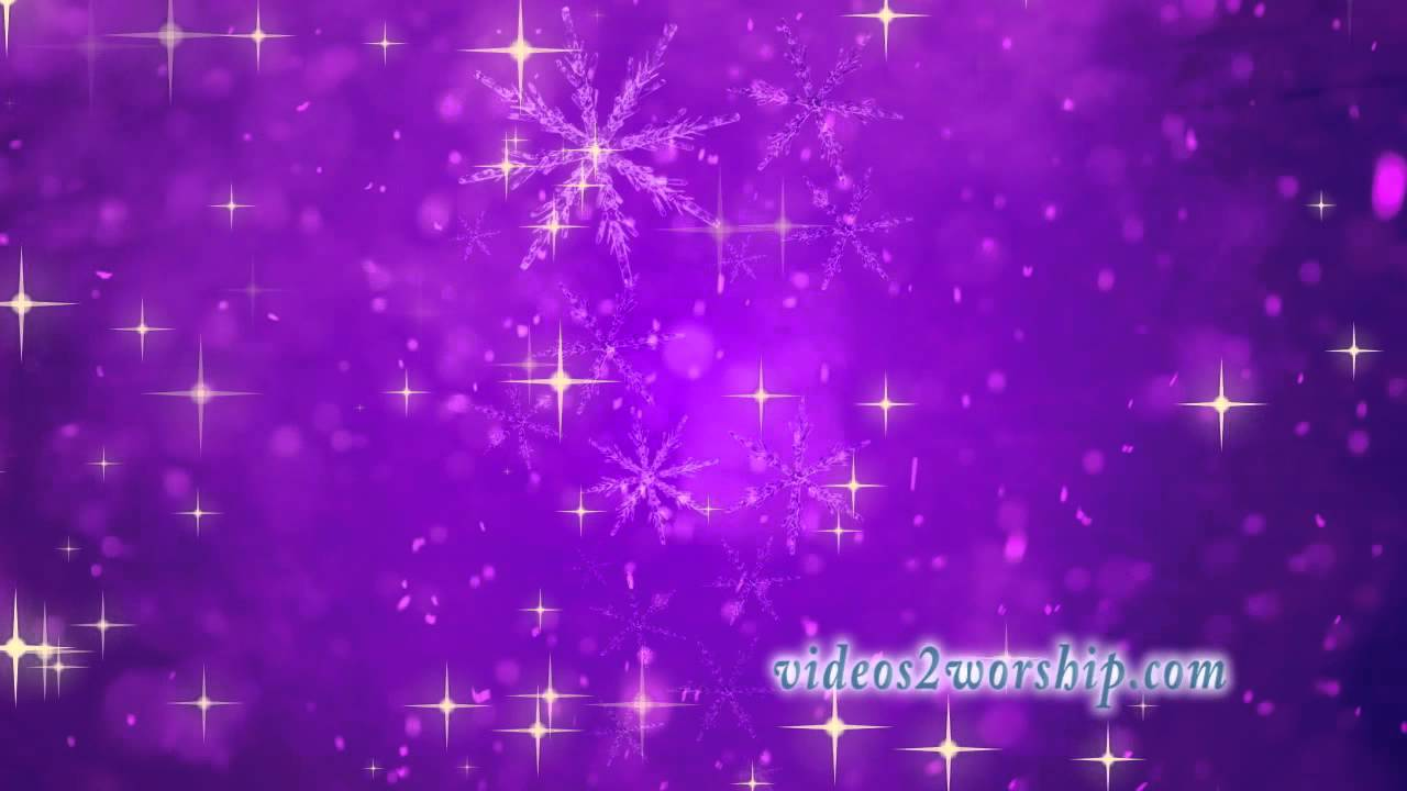 christmas stars and snow flakes purple motion background youtube