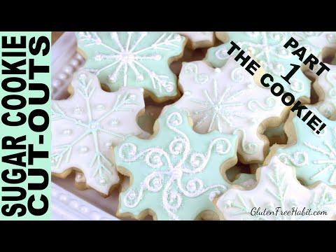 GLUTEN FREE SUGAR COOKIES RECIPE ( Soft!) BEST Gluten-Free Sugar Cookie Cutouts Roll-outs Christmas