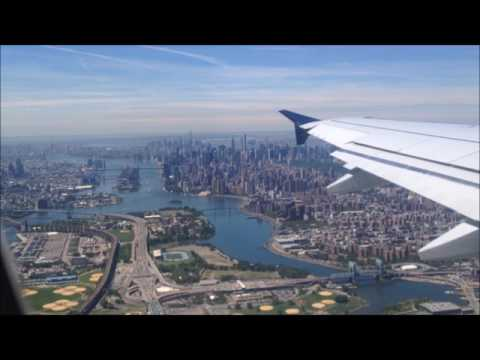Flying over Manhattan en route to Miami