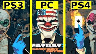 PayDay 2: CrimeWave Edition – PS3 vs PC vs PS4 Graphics Comparison [60fps]