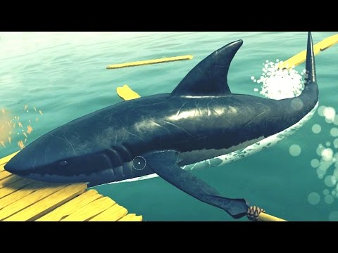 SHARK ATTACKIN' ME RAFT!!! - Raft