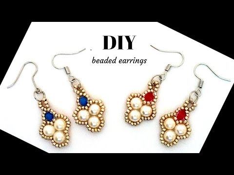 How to make earrings in less than 10 minutes. DIY beaded earrings
