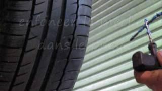 comment réparer pneu crevé