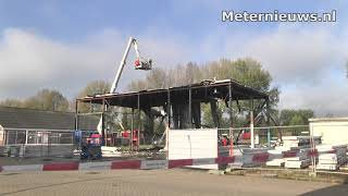 Pand  door sloop in de brand in Zwolle
