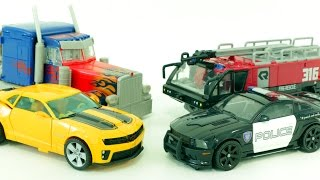Transformers Sentinel Prime Optimus Prime Bumblebee Barricade Vehicle  Car Toys 트랜스포머 자동차 장난감 변신 동영상