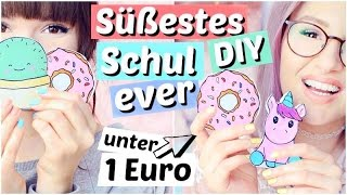 Süßestes DIY für 1€ - NOTIZBLÖCKE für die SCHULE 😍 | ViktoriaSarina