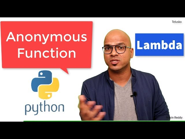 #42 Python Tutorial for Beginners | Anonymous Functions | Lambda