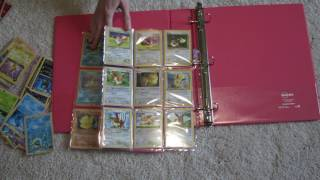 Pokémon Cards - adding  holographic cards to new binder pages ASMR