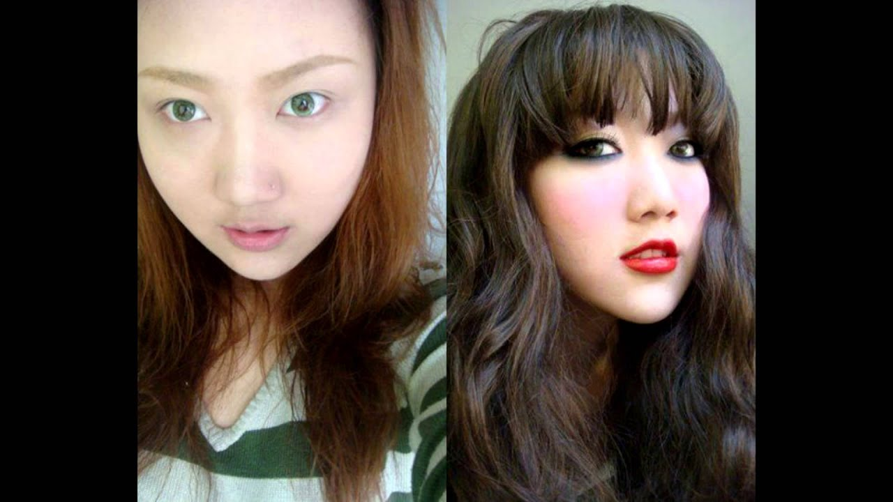 Asian makeup before after
