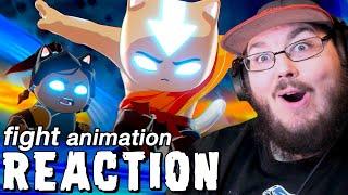 Aang vs Korra FIGHT - Avatar: The Last CATbender - Fan Animation #avatarthelastairbender REACTION!!!
