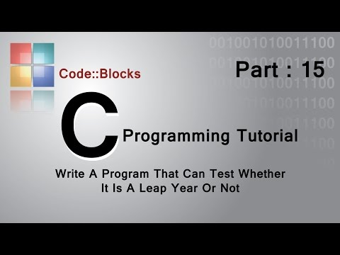 Programming C tutorial :Test a year whether It Is a Leap Year Or not.