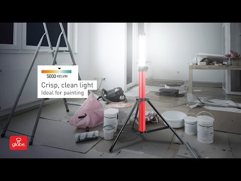 Ultra Bright LED Integrated 360-Degree Portable Boomstick Work Light with Tripod