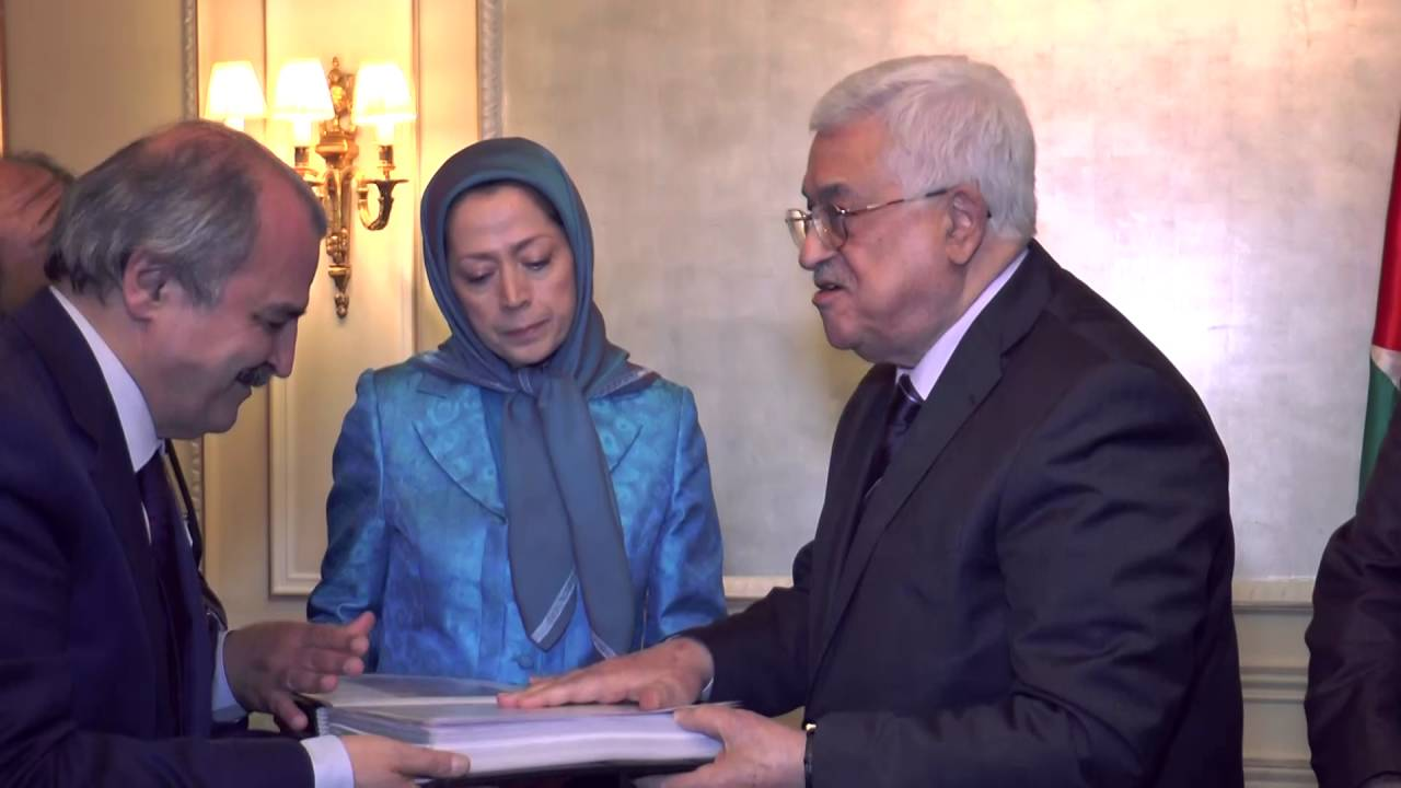 MARYAM RAJAVI, MEETS PRESIDENT MAHMOUD ABBAS - July 30, 2016