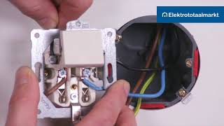 Peha combinatie schakelaar-WCD 1-polig aansluiten - Elektrototaalmarkt.nl