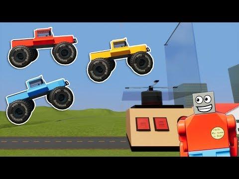 LEGO Monster Truck vs Worlds BIGGEST Blender! - Brick Rigs Gameplay Challenge - Lego Stunts