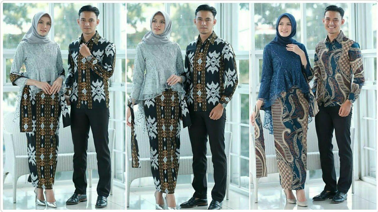 Model Baju Batik Couple Terbaru 2020 2021 Buat Pesta Pernikahan Kondangan Wisuda Pertunangan Youtube