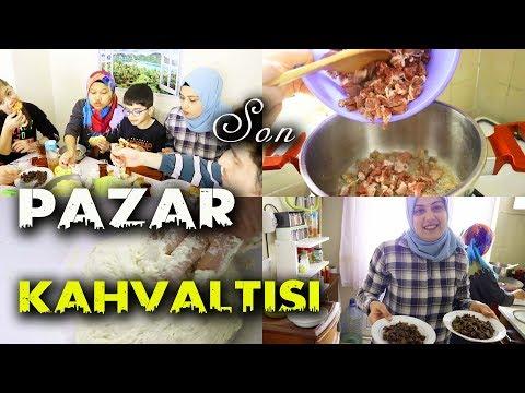 AİLEMLE SON PAZAR KAHVALTISI YAPTIK!!! (KAYNANAM KAVURMA YAPMAYI ÖĞRETTİ!!!)