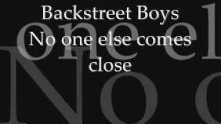 Backstreet Boys No One Else Comes Close