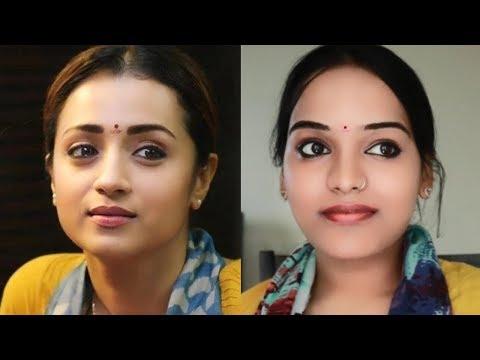 Trisha 96 Inspired Makeup Tutorial Malayalam | Go Glam with Keerthy