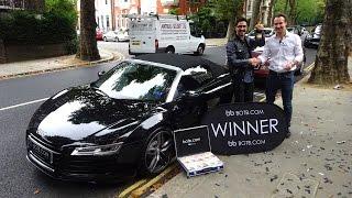 Winner! Week 33 2015 - Audi R8 V10 + £10,000 Cash! Win Your Dream Car!