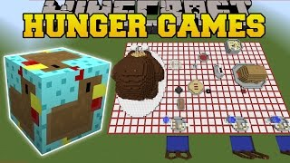 Minecraft: THANKSGIVING DINNER HUNGER GAMES - Lucky Block Mod - Modded Mini-Game