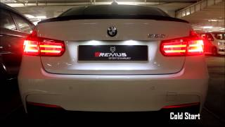 BMW F30 320i ED with REMUS cat-back exhaust