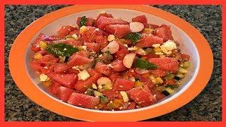 Delicious watermelon salad