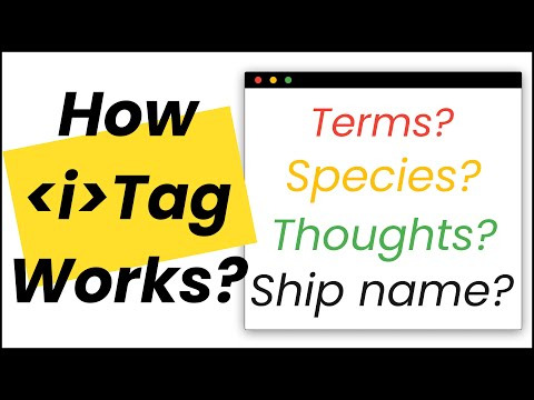 Italic Tag In HTML | Best Practices On When And How To Use HTML I Tag?