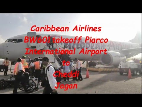Caribbean Airlines BW601 from Port of Spain to Georgetown Guyana