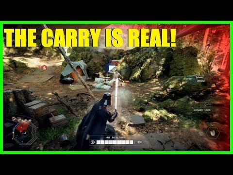 Star Wars Battlefront 2 - OMG I USED A CHICKEN WALKER XD Then got Darth Vader! thumbnail