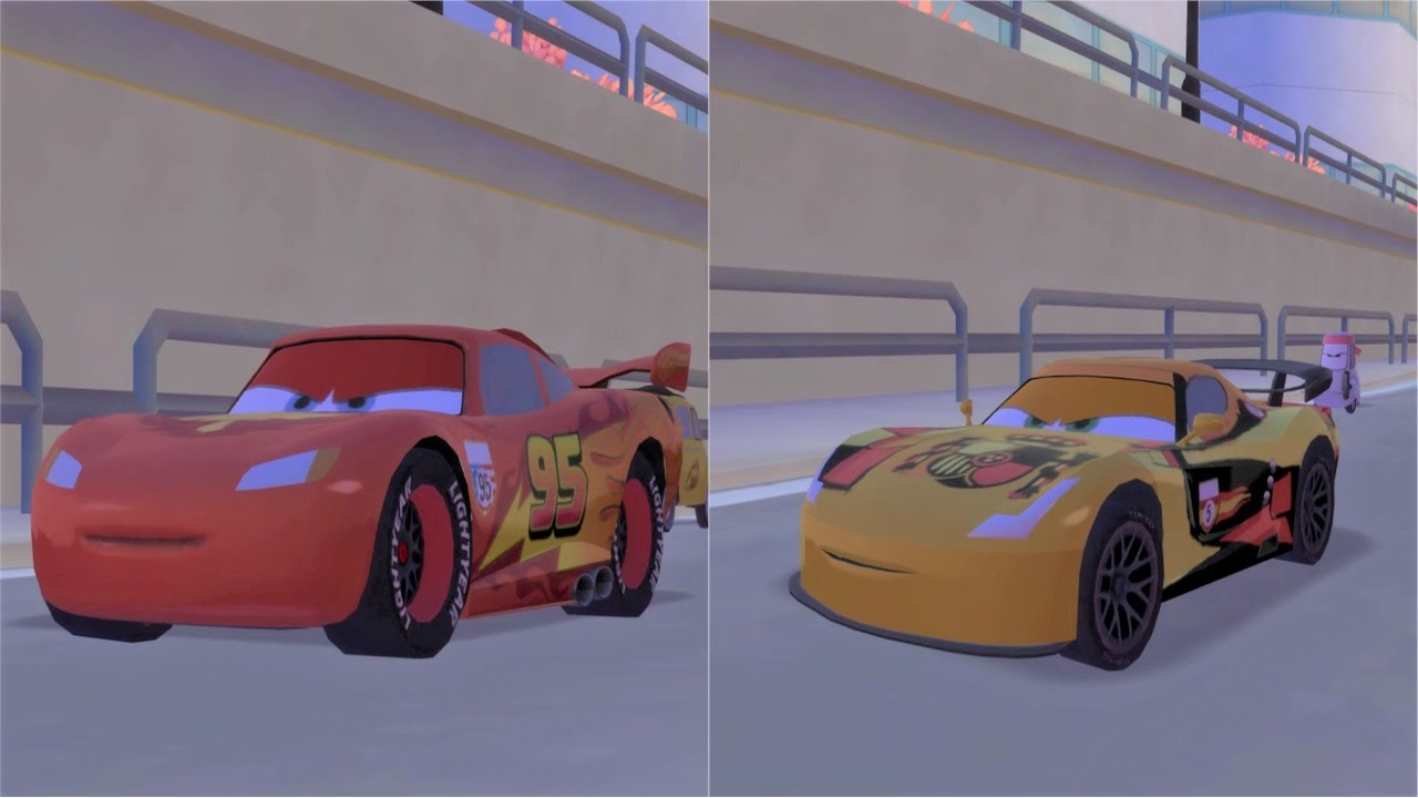disney pixar cars 2 lightning mcqueen vs miguel camino race youtube. Black Bedroom Furniture Sets. Home Design Ideas