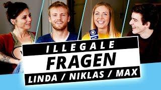 LINDA, NIKLAS und MAX von GZSZ packen aus! - Illegale Fragen
