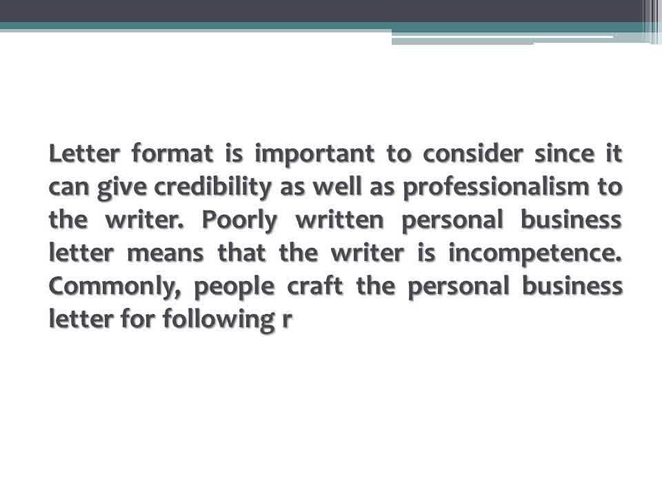 Proper Format Personal Business Letter 2016 - Youtube