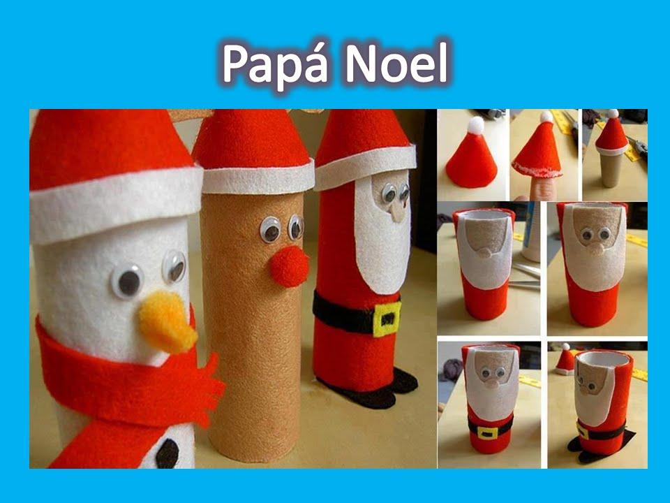Adornos de navidad con tubos de papel higi nico youtube for Decoraciones navidenas faciles de hacer