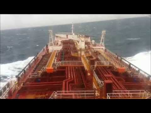Tanker crossing Bass Strait