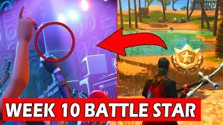 SECRET WEEK 10 BATTLE STAR LOCATION! *LOADING SCREEN* FORTNITE FREE TIER GUIDE