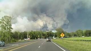 Apr 22 2009 Brush Fire in Carolina Forest/Myrtle Beach SC