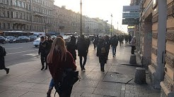 Streets of St Petersburg While Coronavirus. Live