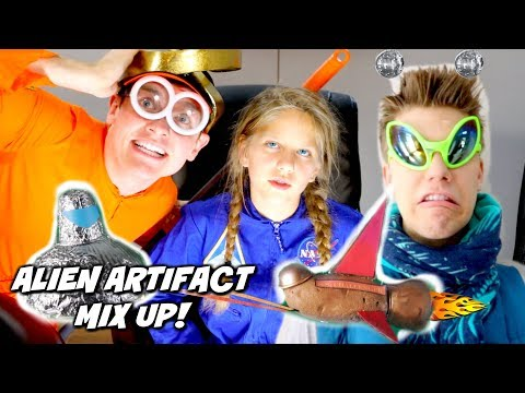 ALIEN INVASION! Aliens Artifact Mix Up Space Adventure Show 1 SuperHeroKids SHK Comics
