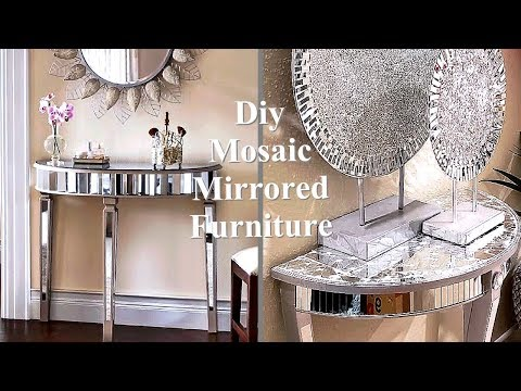 CRUSHED MIRROR NO GROUT! DIY TABLE AND OTHER ROOM DECOR IDEAS ON A BUDGET!