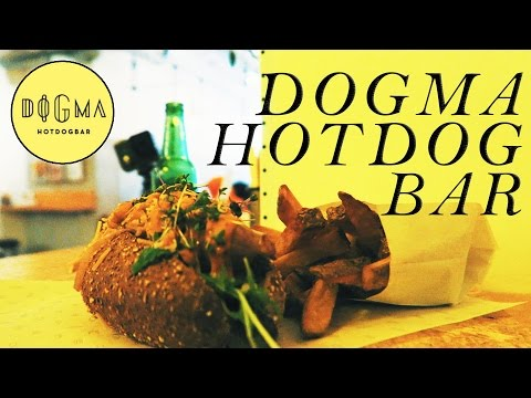 Gourmet Hogdog bar dogma food vibes Sick Menu check it!!!