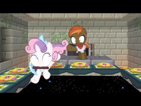 Не копай в ночи песня♫.Пони играют в майнкрафт анимация.
