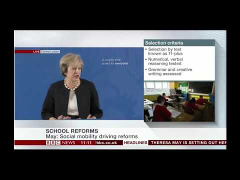 Theresa May's speech on education reform
